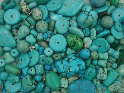 Gemstone Beads Turquoise 50g Asst DIY Jewellery Bracelet Spacer FREE POSTAGE