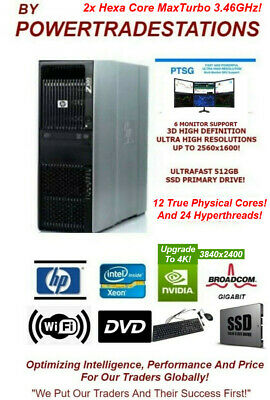 FAST HP Z600 WorkStation Trading Computer PC 12 Xeon Cores CPU 256GB
