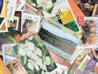 1000 Unfranked Uncancelled Australian 45C Stamps Off Paper $450 Face Value