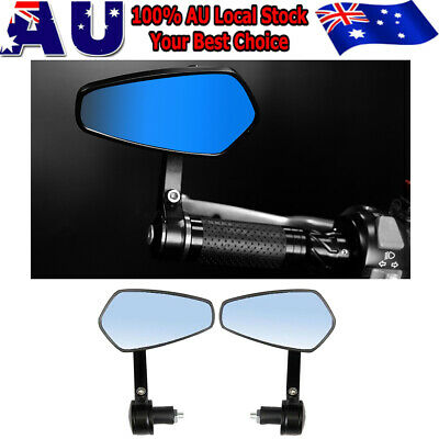 """Universal 7/8"""" 22mm Motorcycle Handle Bar End Side View Mirror for Cafe Racer AU"""