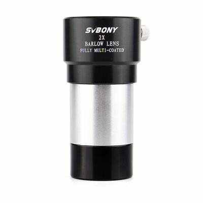 "SVBONY 1.25"" 31.7mm 2X Achromatic FMC Barlow Lens for Astro Telescope Eyepieces"