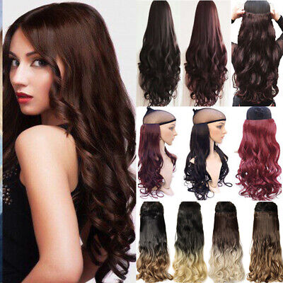 UK 100% Thick Clip In Hair Extensions Long New Half Full Head As Human Hair pt99