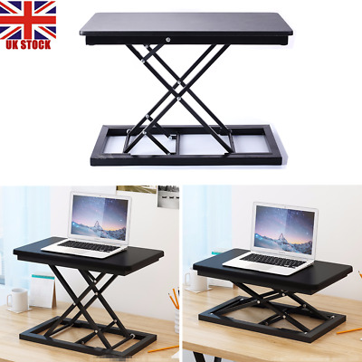 Standing Desk Height Adjustable Sit Stand Up Computer Workstation Tray Table