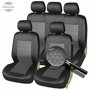 UKB4C Leatherette Full Set Front /& Rear Car Seat Covers for Peugeot 307 Sw 02-On