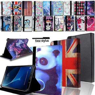 """Leather Tablet Stand Folio Cover Case For 7"""" 8"""" 10"""" Samsung Galaxy Tab A A6"""