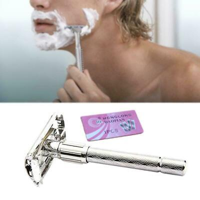 Men's Safety Handheld Manual Shaver + Double Edge Safety-Razor Bladertable A2P0