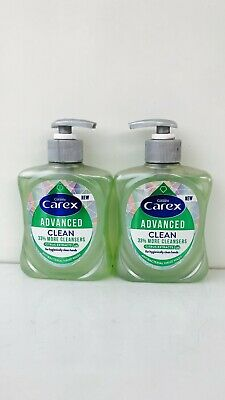 2 X CAREX HANDWASH ADVANCED CLEAN WITH CITRUS EXTRACTS ANTIBACTERIAL  250ml