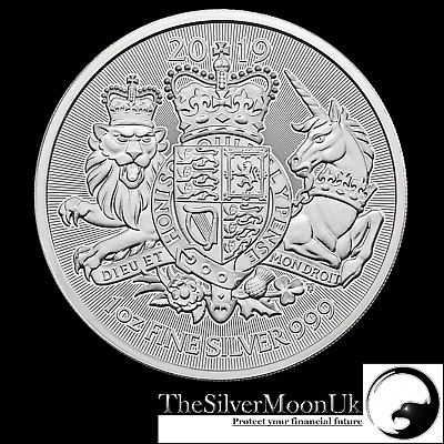 2019 1oz Royal Coat of Arms 1 ounce Silver Bullion Coin unc:IN COIN CAPSULE !