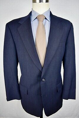 Brooks Brothers Solid Navy Blue Worsted Wool Two Button Two Piece Suit Size: 40R