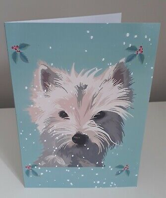 West Highland Terrier Westie Themed Magnetic Memo Notepad incl Pencil Gift