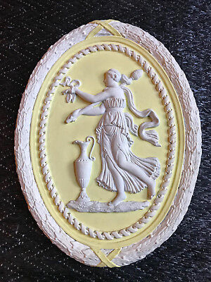 LARGE French NEOCLASSICAL medallion LOUIS XVI 18th WEDGWOOD Style 1950