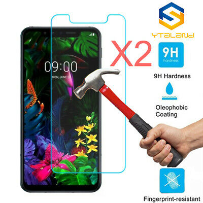 2Pcs 9H Tempered Glass Screen Protector For LG G8 ThinQ / G8S ThinQ
