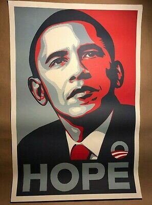 Obama 2008 Obey HOPE Poster by Shepard Fairey Campaign Edition 2008 24x36 #3