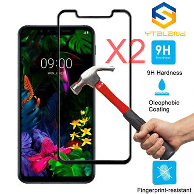 2Pcs Premium Full Covered Tempered Glass Film Screen Protector For LG G8S Thin Q