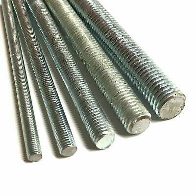Unf Threaded Bar Studding Screwed Rod Mild Steel Zinc Plated Imperial Fine Bars