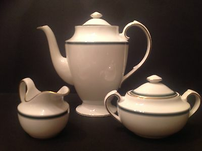 Spode Bone China TUSCANA Coffee Set- Coffeepot, Creamer, Sugar, England