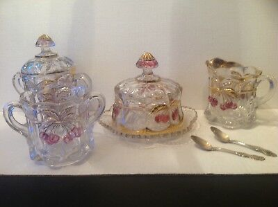 Antique EAPG Pressed Northwood Glass Cherry and Cable EACH PIECE SOLD SEPARATELY