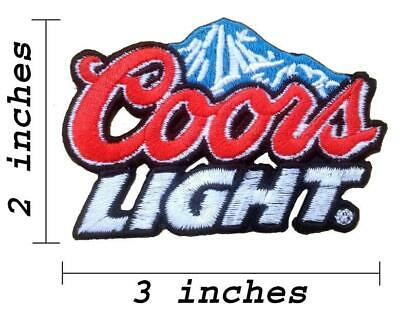 Coors Light Beer Logo Embroidered Iron On Patch.
