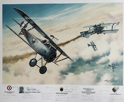 Retired - Aviation Art First Kill by Roy Grinnell Signed by Wladek Gnys RAF