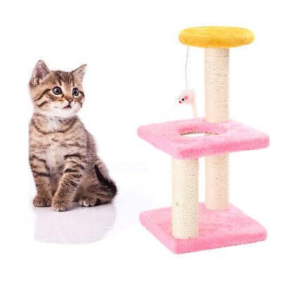 GI- Cat Tree House Scratch Hanging Mouse Scratcher Pet Jumping Climbing Toy Late