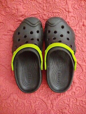 9e568da0ed713 CROCS KIDS SWIFTWATER Clog - Black / Volt Green - Sz 10 M US Toddler ...