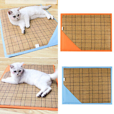 GI- Reversible Pet Cooling Mat Summer Dog Cat Sleeping Cool Cushion Sponge Pad P