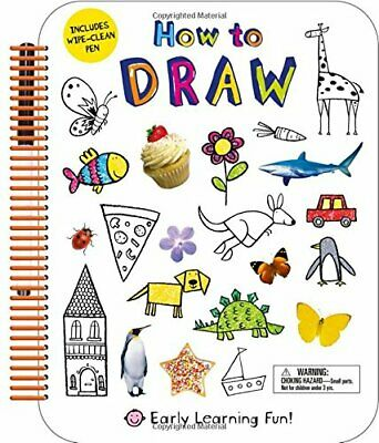 NEW - How to Draw: Includes Wipe-Clean Pen (Early Learning Fun)