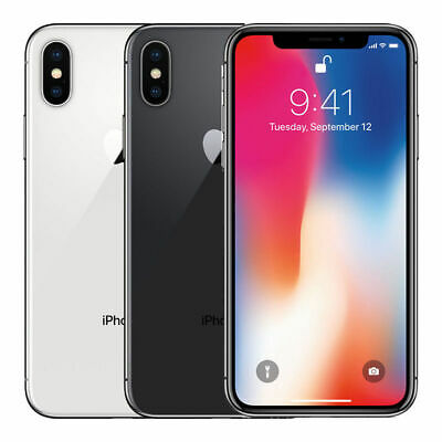 Apple iPhone X - 64GB - Silver - Gray GSM Unlocked