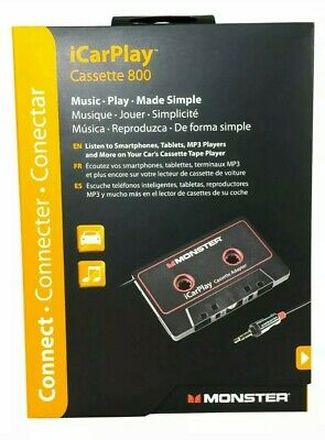 Monster iCarPlay 800 Cassette Adapter - iPod, iPhone, Android FAST FREE SHIPPING