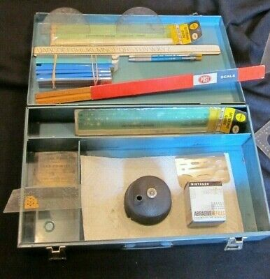 Drafting Tools  Dietzgen Pointer Lead & Holders Triangles Lettering Post Scale