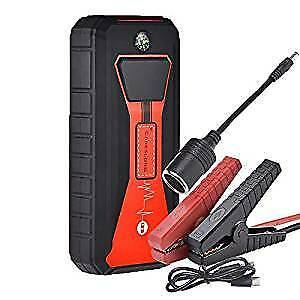 Portable Car Jump Starter 800A Peak 15000mAH Upto 7.5L gas 3.0T diesel Led Light