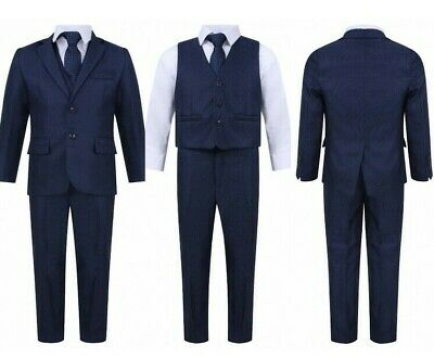 Brand New Boys Formal 5Piece Suit Boy Prom Wedding Suit In Navy Ages 1 To 15
