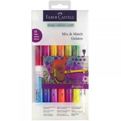 Faber Castell Gelatos Mix & Match 15 Pieces Water-soluble Crayons - Brights