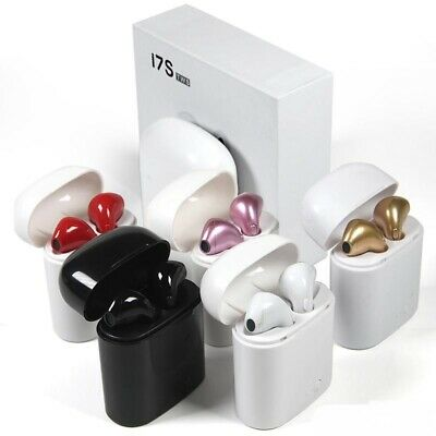 i7s TWS Twin Wireless Bluetooth Earphones Earbuds For  iPhone SAMSUNG all phone