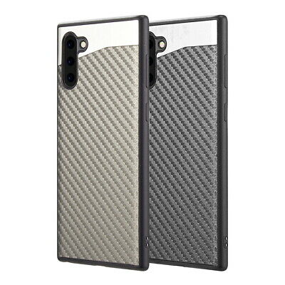 Samsung Galaxy Note 10 /Plus Magnet Backplate Carbon Fiber TPU Rubber Case Cover