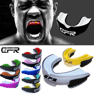 CFR Gel Gum Shield Mouth Guard Boxing MMA For Adult Rugby Grinding MouthPiece GW