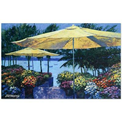 """Howard Behrens """"Flowers by the Sea"""" Signed Limited Edition Giclee on Canvas"""
