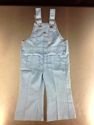 Vintage Billy The Kid Baby Blue Child's Overalls Jumper 60's? 70's? Super Cute!