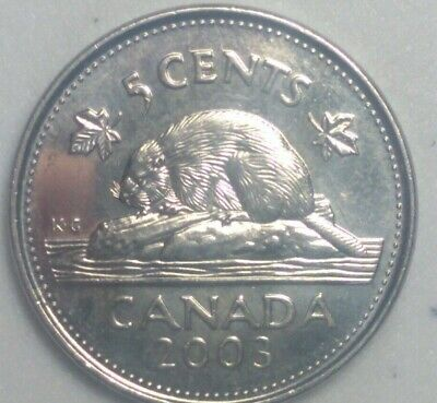 2003 P  CANADA 5 Cent Beaver Nickel Coin Old Effigy