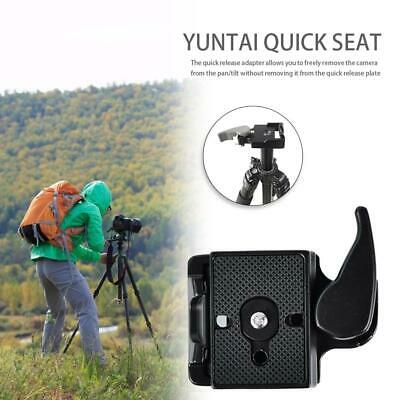 "Portable Camera Tripod Quick Release 3/8"" Plate Mount Clamp Adapter Stabilizer"