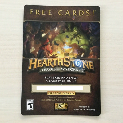 HEARTHSTONE HEROES OF Warcraft Free Card Pack Key Code - Fast Email Delivery