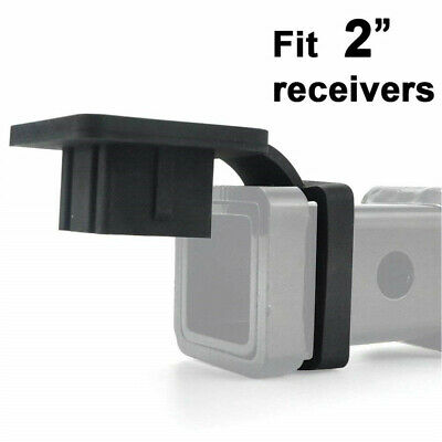 """Rubber 2"""" Trailer Hitch Tube Cover Plug Receiver for Toyota Mercedes Truck Jeep"""