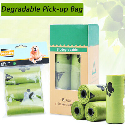 Poop Bags for Dogs -Pet Dog Biodegradable Waste Poo Bag-Pick Up Clean Leak-Proof