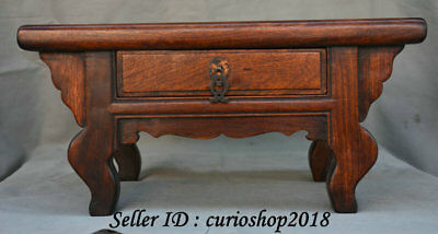 "16.8"" Old Chinese Huanghuali Wood Dynasty Drawer Table Desk antique furniture"