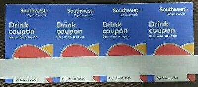 4 Southwest Drink Coupons Expire May 31, 2020