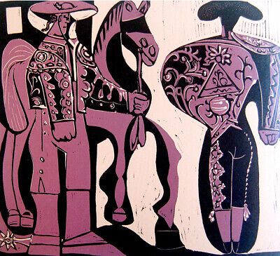 1957 PICASSO Original SIGNED LITHOGRAPH + 7 LINOCUTS English ART BOOK XXe SIECLE