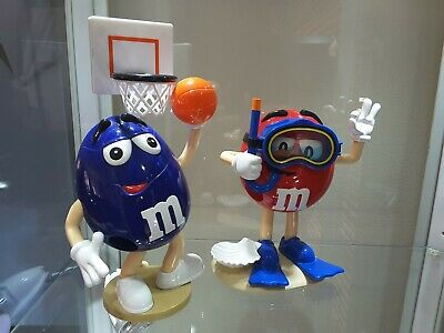 M&M's Dispenser Lot Of 2 Basketball & Snorkelling / Diving