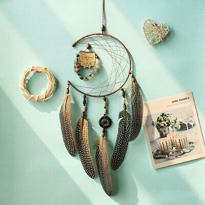 Owl Feather 18cm Dream Catcher Home Decor Plume Wall Hanging Ornament Kids Room