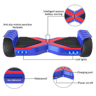 HOVERBOARD Overboard 600W Electico Balance Scooter Hoverboard Monopattino #blue