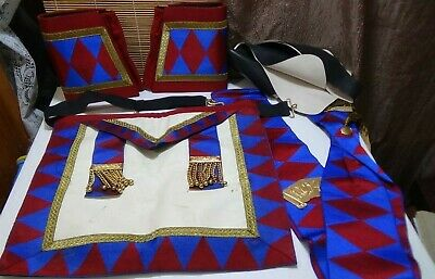 Vintage Royal Order of Antediluvian Buffaloes - Regalia Set Cuffs Sash Apron
